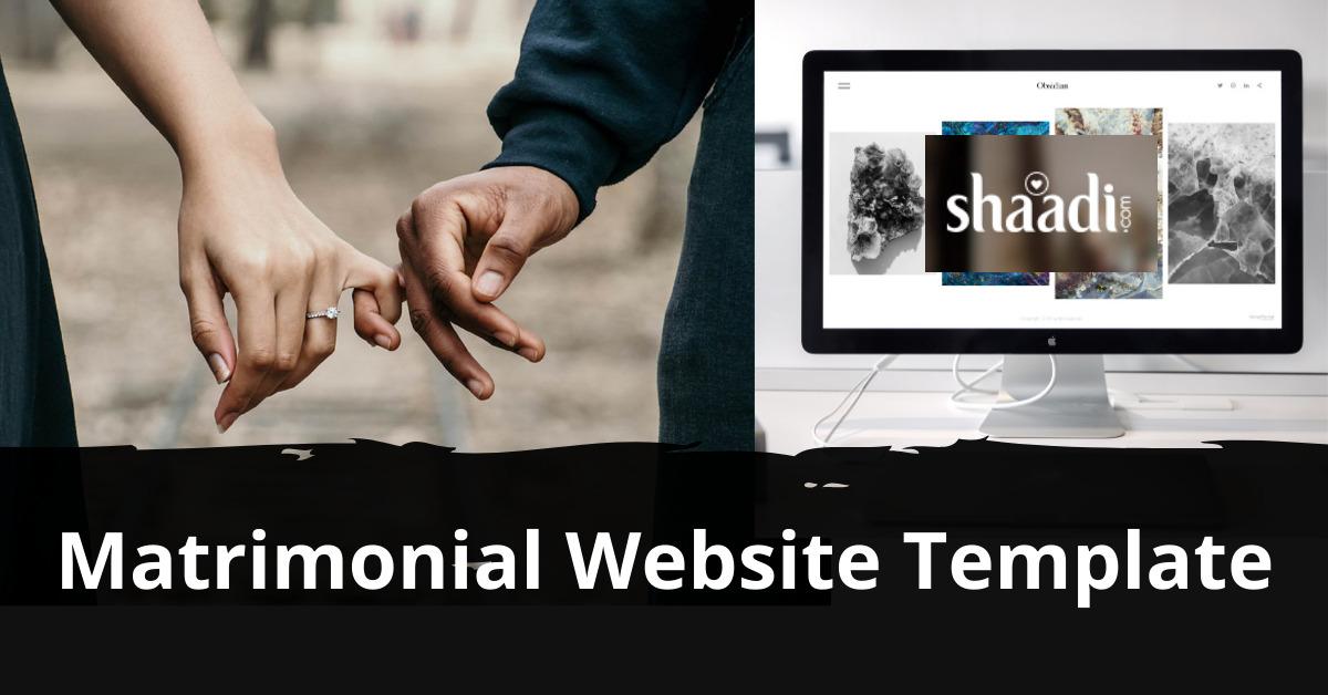 Matrimonial Website Template