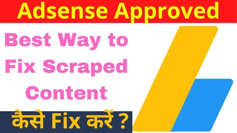 Best Way to Fix Scraped Content