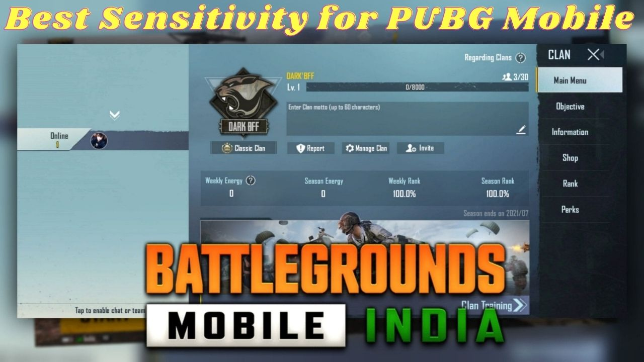 Best Sensitivity for Battleground Mobile India   Best Sensitivity Settings for Battleground Mobile India